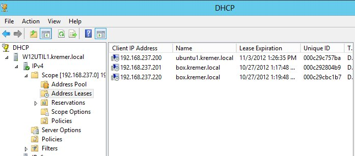 DHCP leases on failover host