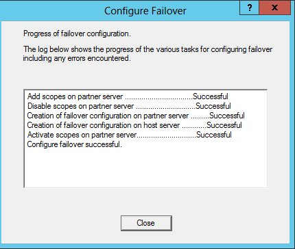 Failover progresses to completion