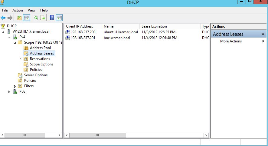 The failover scope as seen on the secondary DHCP server