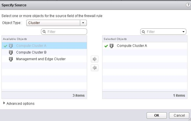 NSX Source Cluster