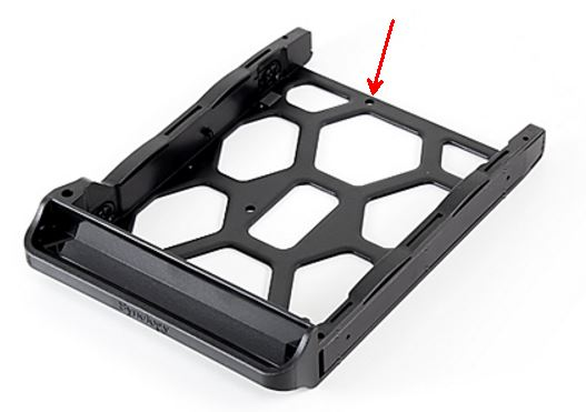 Drive tray mounting holes