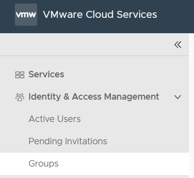 Cross-org group sharing in VMware Cloud on AWS