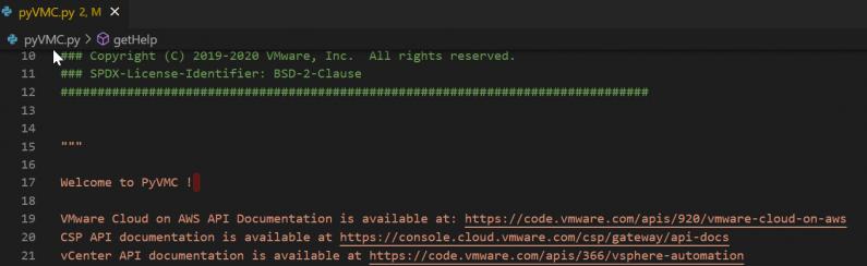 Python Client for VMC on AWS – Part I – User Management